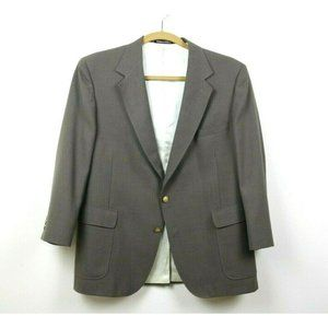 Stafford Mens Suit Jacket Lined Worsted Wool Blend